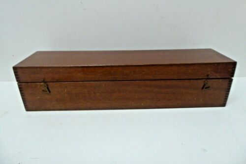 VINTAGE STANLEY TOOL INSTRUMENT CASE CEDAR TIMBER BRASS CARRY BOX DOVETAILED