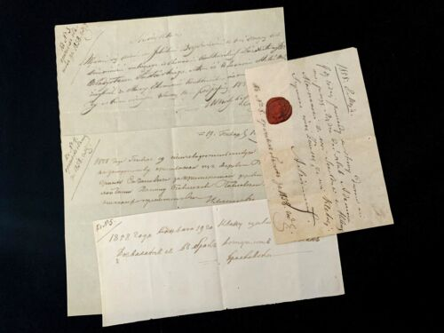 1858 RUSSIAN AND POLISH Documents Lot