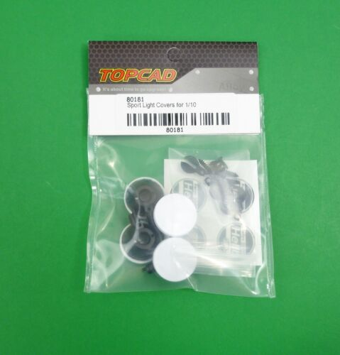 4 Spotlights with Covers for 1:10 RC RC Rally Cars & Rock Crawlers, Trucks