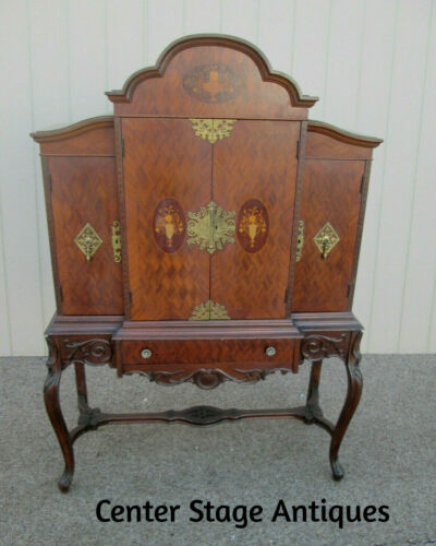 56654 Vintage French Inlaid Urns China Cabinet Curio QUALITY CUSTOM HAND MADE