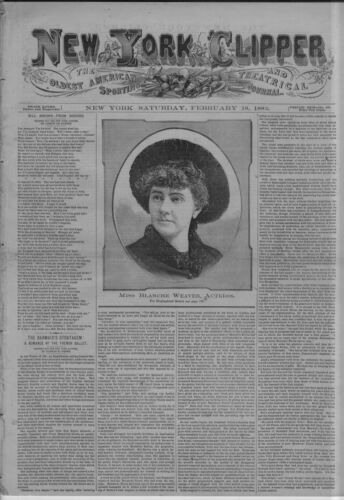 NEW YORK CLIPPER AMERICAN SPORTING AND THEATRICAL JOURNAL BUFFALO BILL CODY