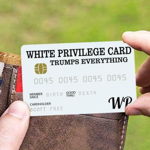 White Privilege Card Gag Novelty Wallet Size Collectable Laminated Gift Trumps
