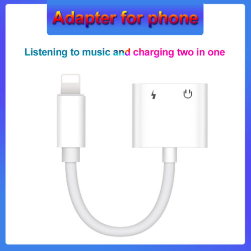 2 in 1 Adaptor for iphone 12,11,X10,XR,7,8 SE Usb Charging and 3.5mm Jack Dual