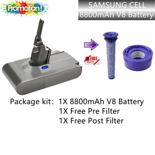 21.6V 8800mAh Battery For Dyson V8 SV10 Vacuum Cleaner Absolute Free Filter kit <br/> ✅24h delivery✅high quality✅Sydney spot✅5 years warranty
