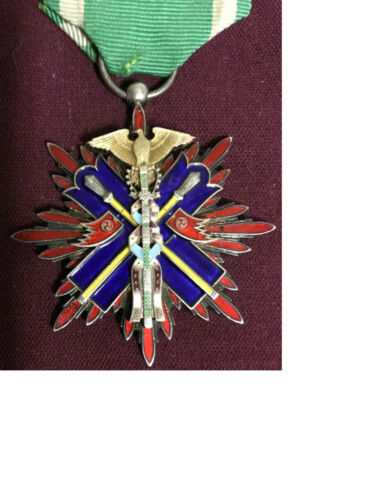 GOLDEN KITE 5th SILVER MEDAL Empire of Japan army & navy military badge 1930s1939 - 1945 (WWII) - 13977