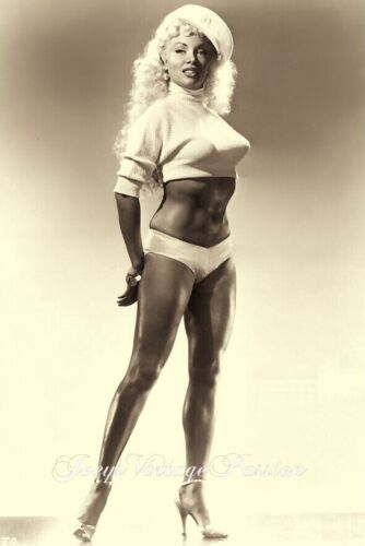 """1950's LILY Christine Burlesque Stripper Knock-out Body 4""""x6"""" Reprint Photo BU2A"""