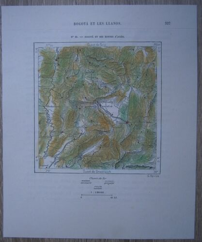 1893 Perron map: Bogota and its access roads, Colombia (#60)