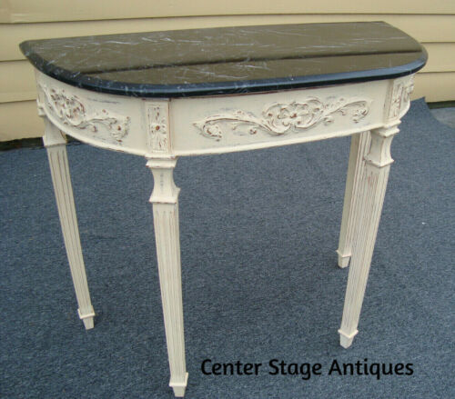 57614  Decorator Marble Top Console Table Sideboard Server Stand