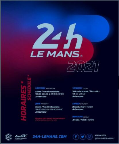 2021 Le Mans 24h Wednesday-Sunday General Entry x3