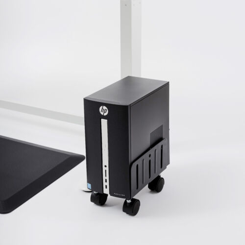 gku™ Free Standing PC Tower Holder Computer Tower Stand Free Standing Case Cart
