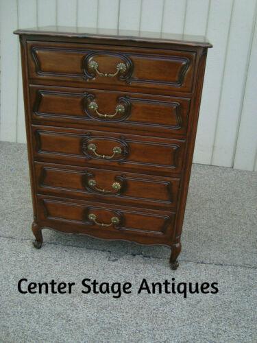 60350 Widdicomb Solid Cherry High Chest Dresser French Provincial