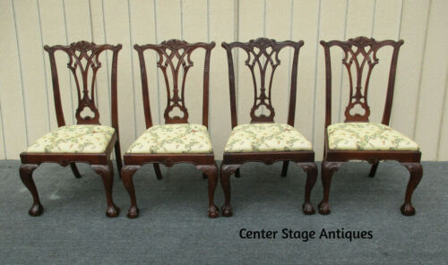 62316  Set of 4 Solid Mahogany Dining Room Chairs