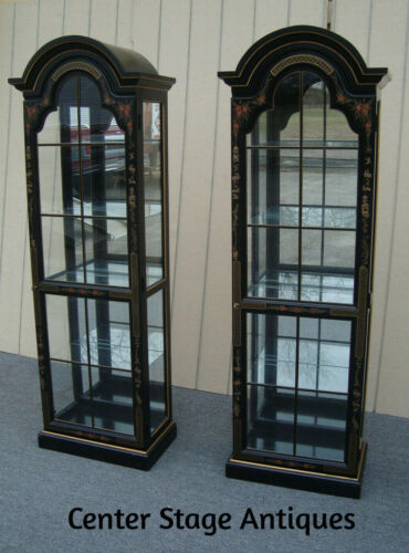 61674  ONLY 1  Oriental Curio Cabinet with Plate Glass Shelves