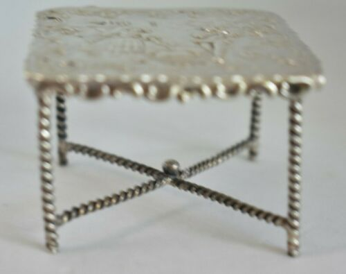 Antique Hallmarked PB London Import Marks 930 Sterling Silver Miniature Table