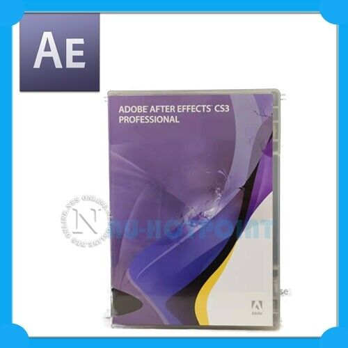 Adobe CS3 After Effects Professional MAC EDU Ver w/ PRODUCT KEY for 3D animation