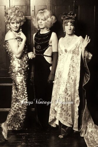 """1970's Cross-dressers Amazing Gowns Drag, Gay Interest 4""""x6"""" Reprint Photo G82"""