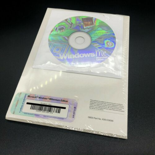 Genuine Windows ME Millenium Edition - New & Sealed with CD & Product Key
