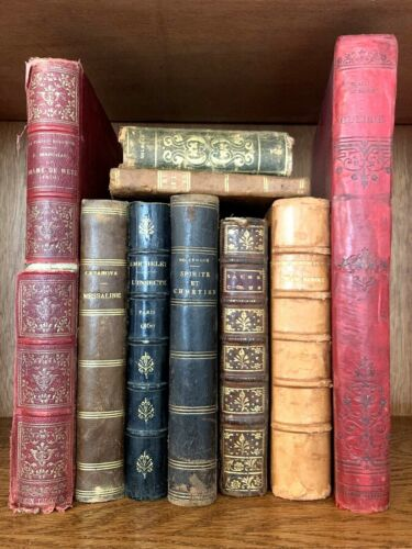 OLD BOOKS COLLECTION from 1700 - 1800s - War Literature, History, Religion