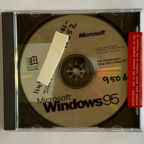 9506 - Microsoft windows 95 on CD - Excellent condition.