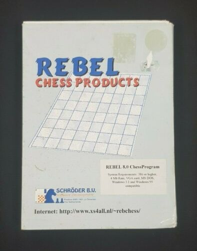 Rebel 8.0 Vintage Chess Program Software Floppy Disk Boxed Rebel Chess Products