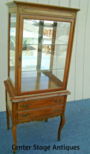 62176   French Country 2 piece Curio Cabinet