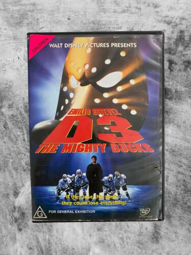 D3 : THE MIGHTY DUCKS (1996) DVD CULT KIDS FAMILY COMEDY R4
