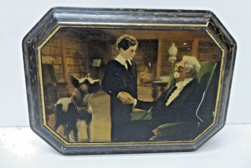 ANTIQUE LITTLE LORD FAUNTLEROY BISCUIT TOFFEE TIN LITHO PICTURE