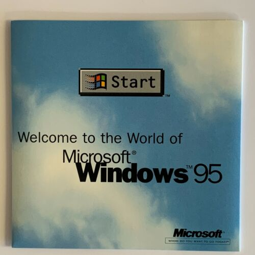 welcome to the world of Microsoft windows 95 CD [10003]