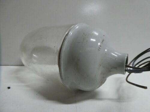 VINTAGE  GLASS  INDUSTRIAL FACTORY LIGHT SHADE WEATHER PROOF