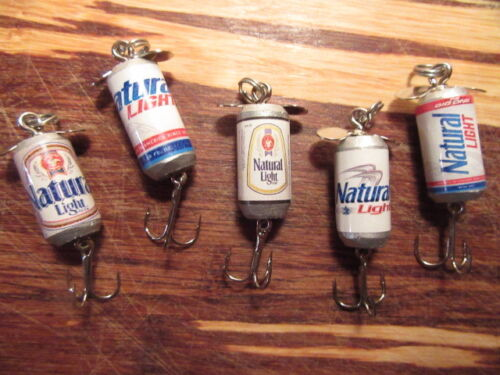 Natural Light Beer 5 Different Promotional Spinning Beer Fishing Lures