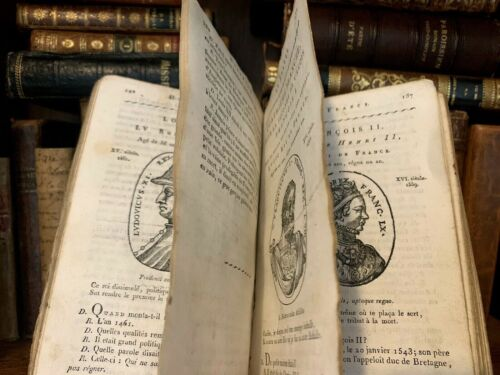1801 INSTRUCTIONS ON HISTORY OF FRANCE AND ROMAN EMPIRE