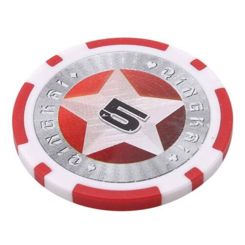 Funny Casino Texas Hold'em ABS Poker Chips With Star Trim Sticker Poker Chip FB