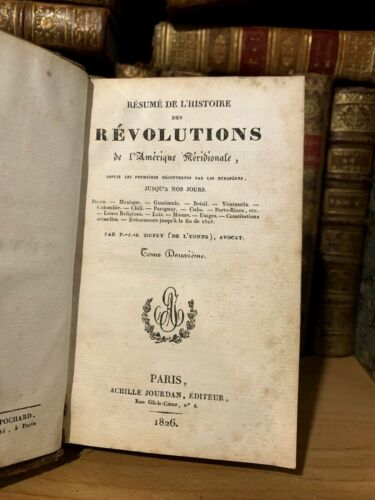 1826 HISTORY OF REVOLUTIONS IN SOUTHERN AMERICA