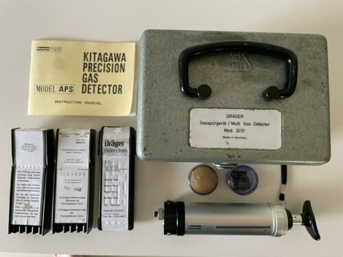 Vintage Drager 21/31 and Kilagawa Precision combined Multi Gas Detector kit