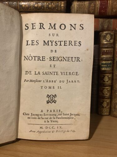 1709 SERMONS ON THE MYSTERIES OF OUR LORD AND SAINT VIRGIN
