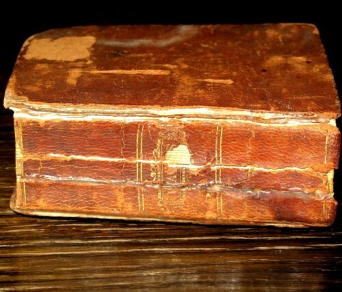 1833 MINIATURE HYMNS Leather PSALMS OF DAVID Bible HYMNAL American PHINNEY NY
