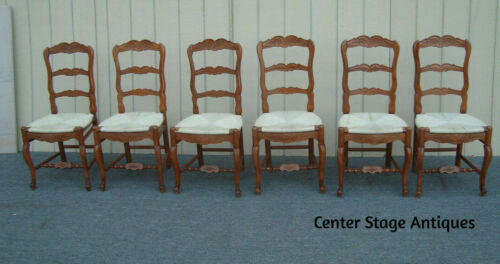 62151 Set 6 French Country Side Dining Chairs