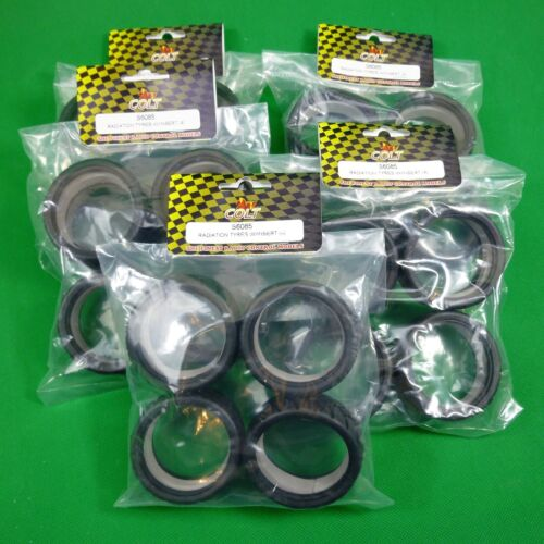 5 SETS of treaded rubber tyres for 1:10 RC cars may suit TamiyaTRAXXAS Sakura