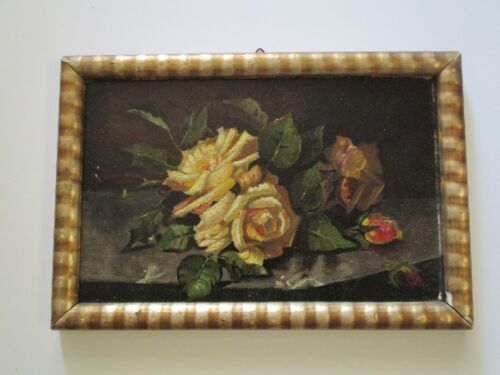 19TH CENTURY MYSTERY ARTIST STILL LIFE FLORAL FLOWERS ROSES IMPRESSIONIST OLD