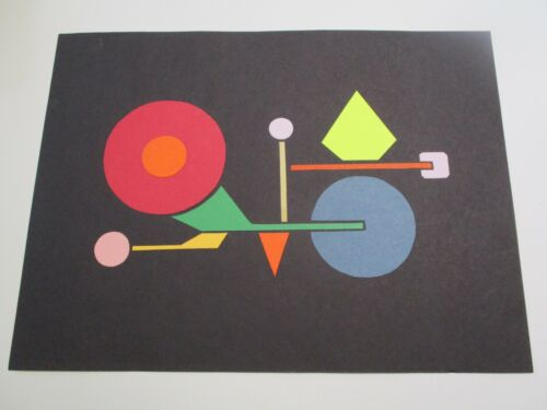 MYSTERY VINTAGE CONTEMPORARY SPACE ATOMIC MODERNIST DRAWING COLLAGE CUBIST RETRO