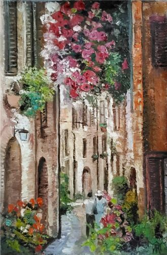 Europe Cityscape Architecture Italy France ORIGINAL ART OIL PAINTING YARY DLUHOS