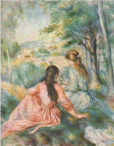 """1960 Art Print """"In The Meadow"""" by Pierre Auguste Renoir French  Free Ship"""