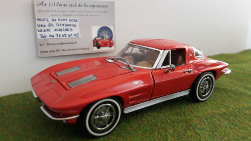 CHEVROLET CORVETTE Sting Ray 1963 o 1/24 FRANKLIN MINT B11PX67 voiture miniature
